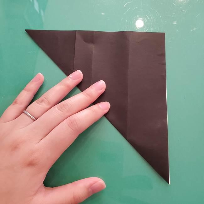 折り紙のコウモリがリアル!折り方作り方(立体)①前半(8)