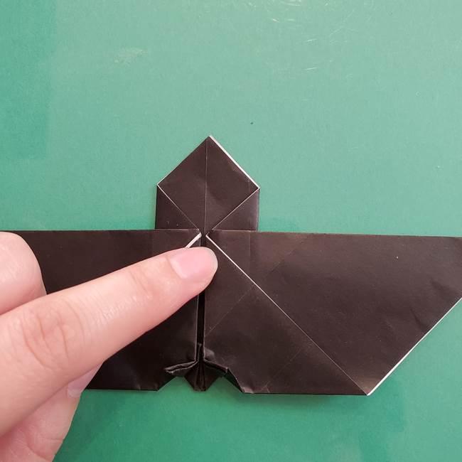 折り紙のコウモリがリアル!折り方作り方(立体)②後半(1)