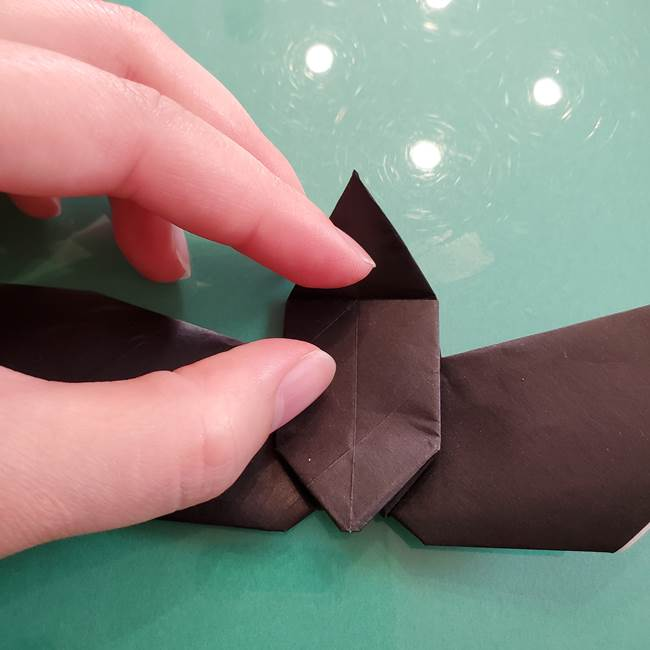折り紙のコウモリがリアル!折り方作り方(立体)②後半(10)