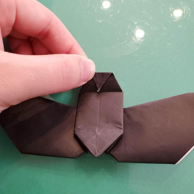折り紙のコウモリがリアル!折り方作り方(立体)②後半(11)