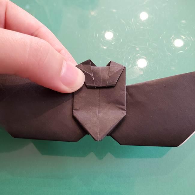 折り紙のコウモリがリアル!折り方作り方(立体)②後半(12)