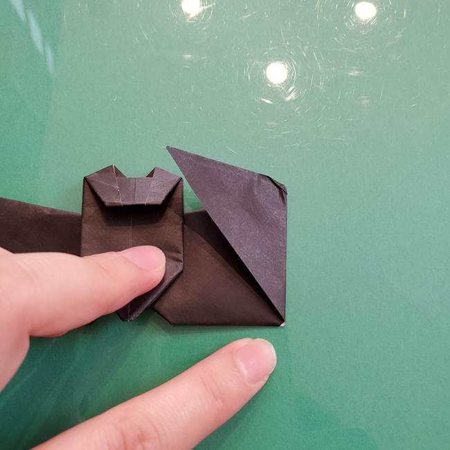 折り紙のコウモリがリアル!折り方作り方(立体)②後半(13)