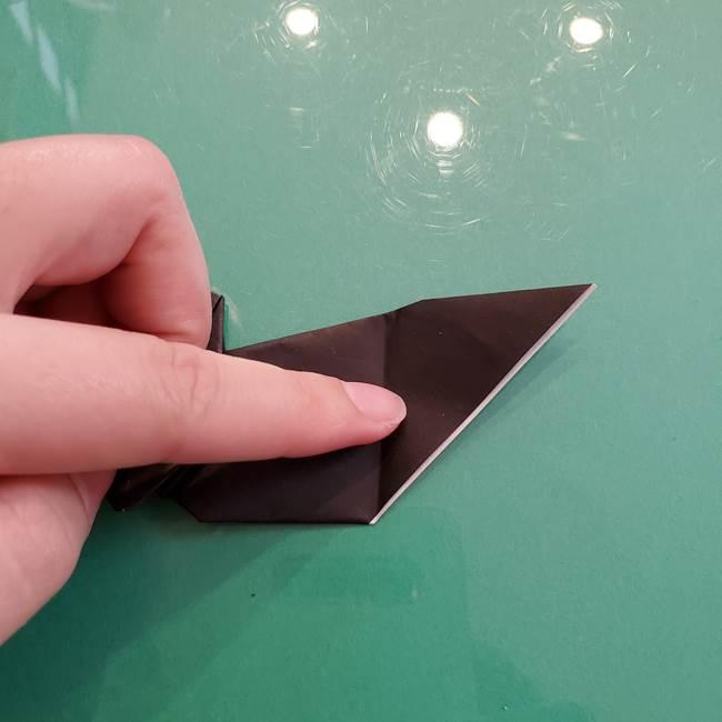 折り紙のコウモリがリアル!折り方作り方(立体)②後半(14)