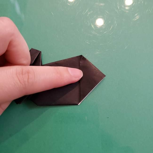 折り紙のコウモリがリアル!折り方作り方(立体)②後半(15)