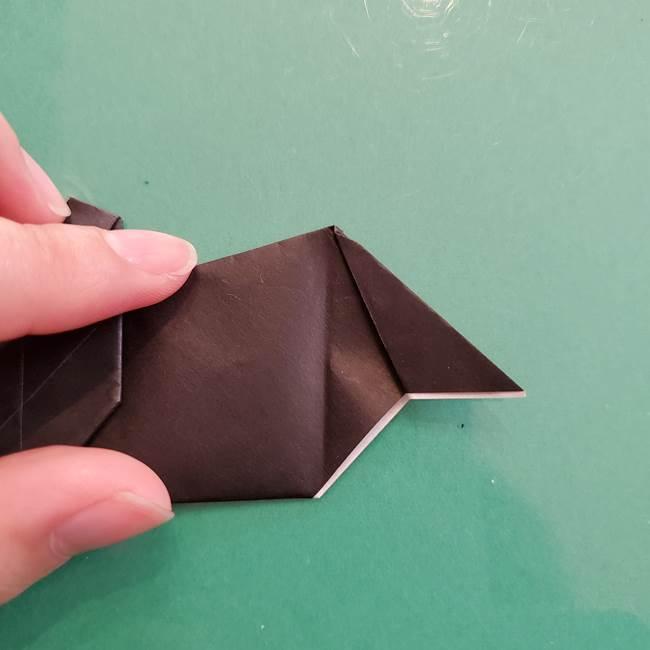 折り紙のコウモリがリアル!折り方作り方(立体)②後半(16)