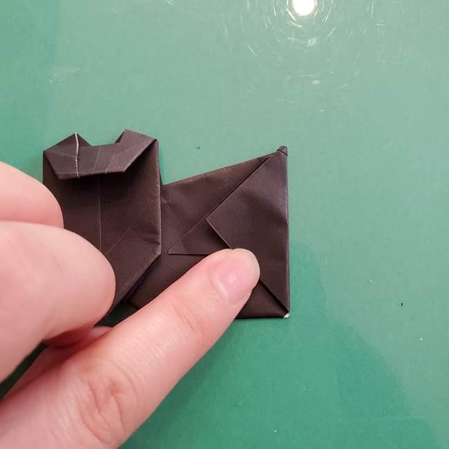 折り紙のコウモリがリアル!折り方作り方(立体)②後半(17)