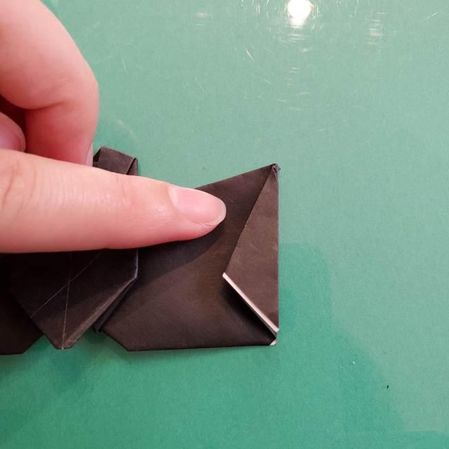折り紙のコウモリがリアル!折り方作り方(立体)②後半(18)