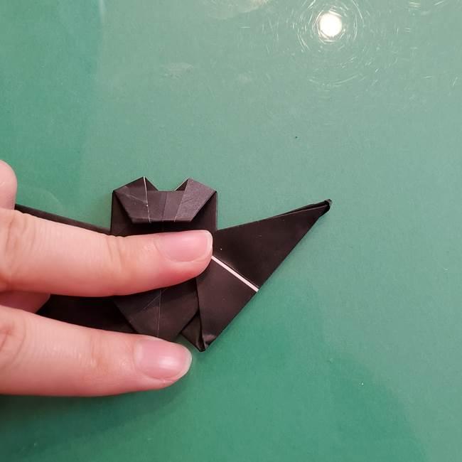 折り紙のコウモリがリアル!折り方作り方(立体)②後半(19)