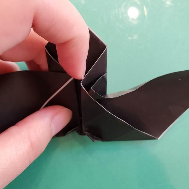 折り紙のコウモリがリアル!折り方作り方(立体)②後半(2)