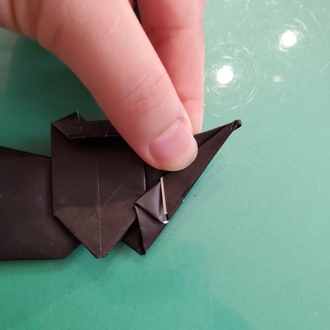 折り紙のコウモリがリアル!折り方作り方(立体)②後半(20)