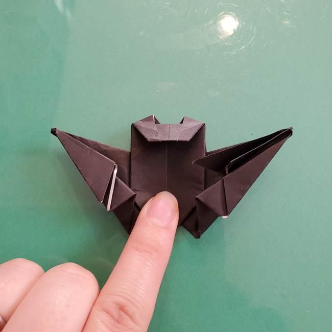 折り紙のコウモリがリアル!折り方作り方(立体)②後半(21)