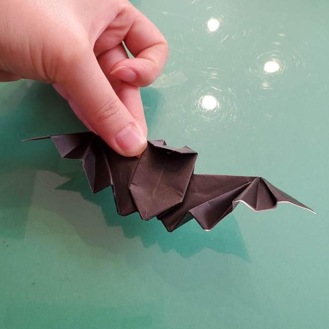 折り紙のコウモリがリアル!折り方作り方(立体)②後半(22)