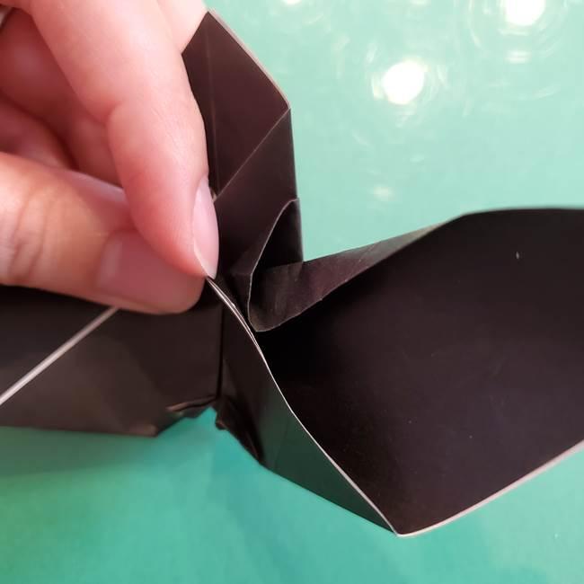 折り紙のコウモリがリアル!折り方作り方(立体)②後半(3)