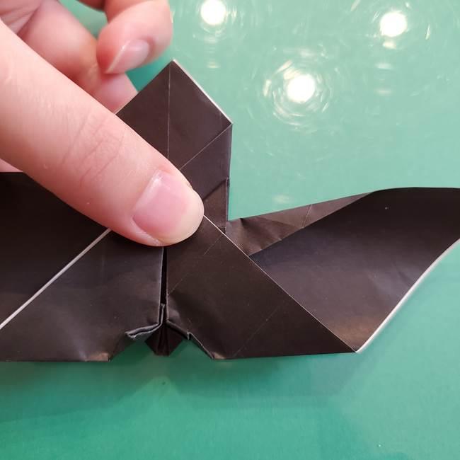 折り紙のコウモリがリアル!折り方作り方(立体)②後半(4)