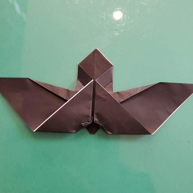 折り紙のコウモリがリアル!折り方作り方(立体)②後半(5)