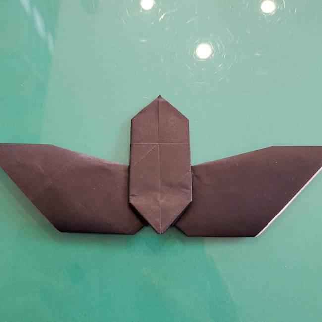 折り紙のコウモリがリアル!折り方作り方(立体)②後半(6)