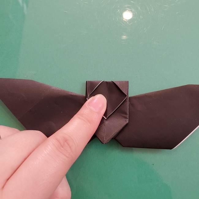 折り紙のコウモリがリアル!折り方作り方(立体)②後半(7)
