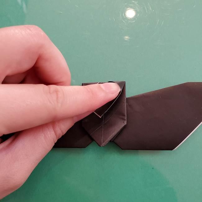折り紙のコウモリがリアル!折り方作り方(立体)②後半(8)