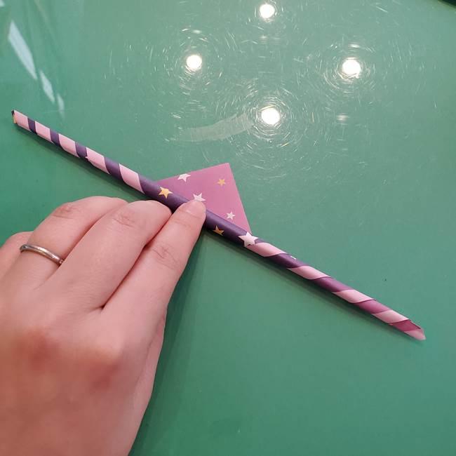 折り紙のペロペロキャンディの簡単な折り方作り方②スティック(6)