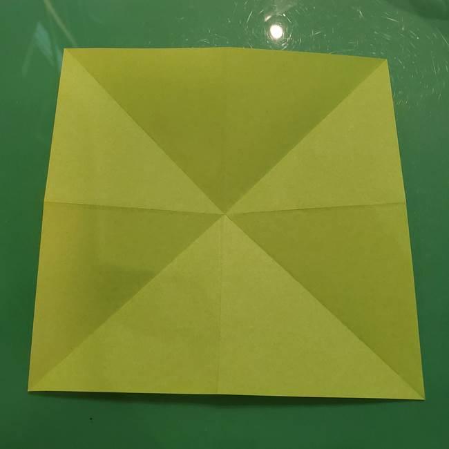 折り紙の梨 立体的でリアルな折り方作り方①前(10)