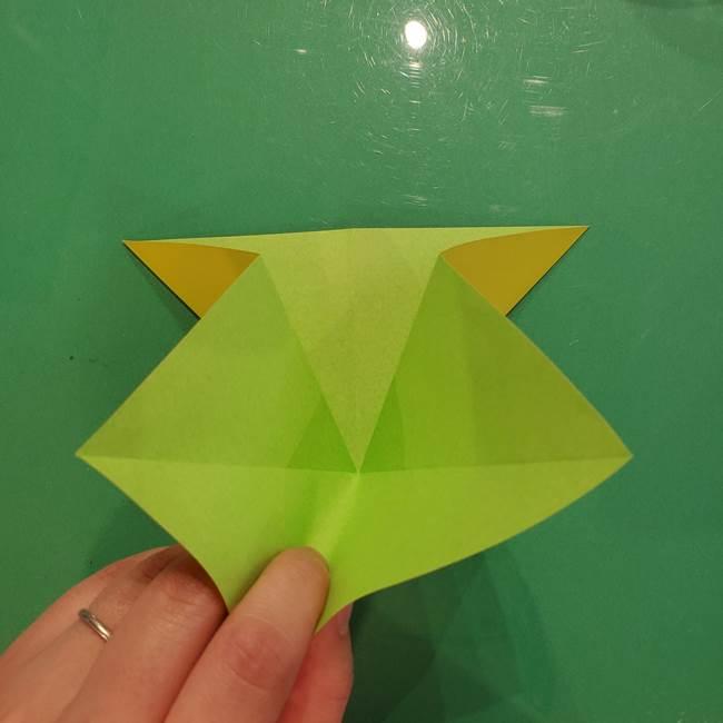 折り紙の梨 立体的でリアルな折り方作り方①前(11)
