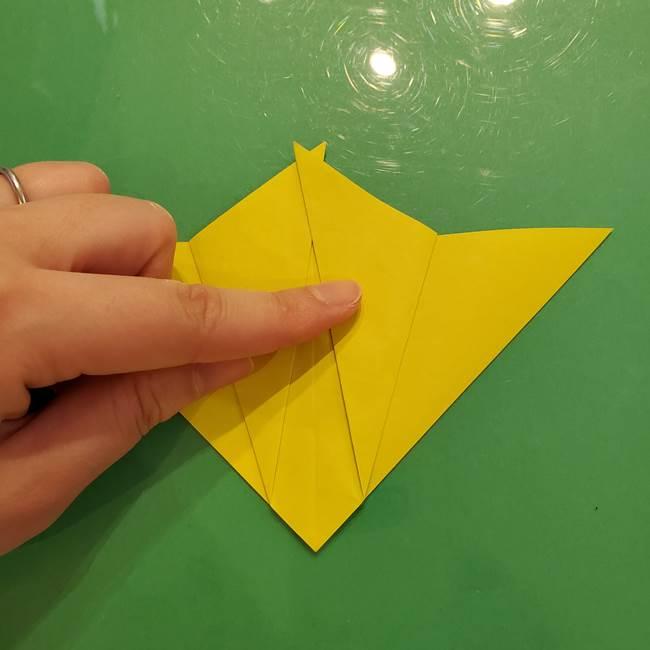 折り紙の梨 立体的でリアルな折り方作り方①前(13)