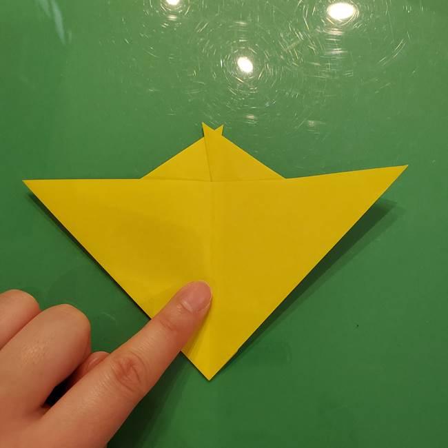 折り紙の梨 立体的でリアルな折り方作り方①前(14)