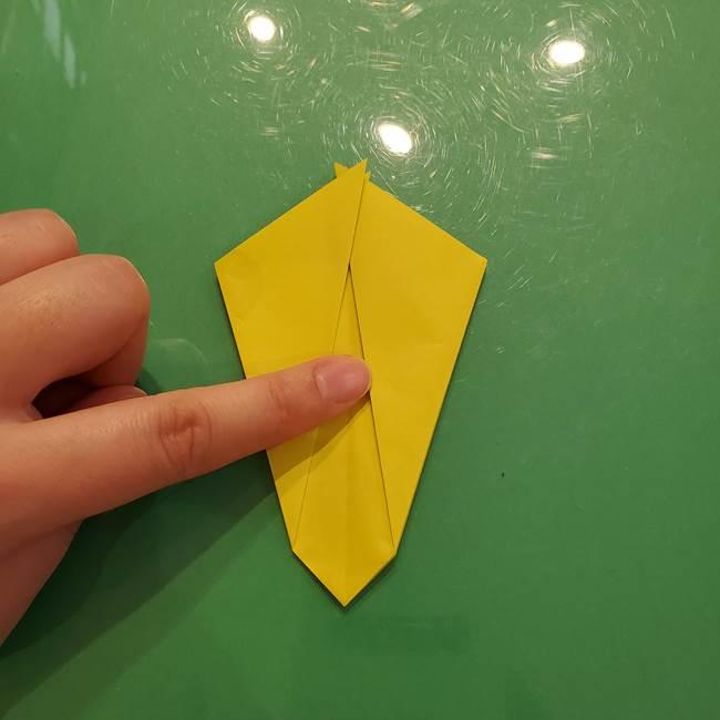 折り紙の梨 立体的でリアルな折り方作り方①前(15)