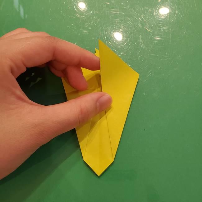 折り紙の梨 立体的でリアルな折り方作り方①前(16)