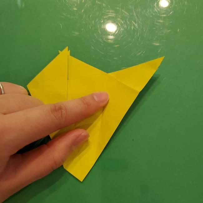 折り紙の梨 立体的でリアルな折り方作り方①前(18)