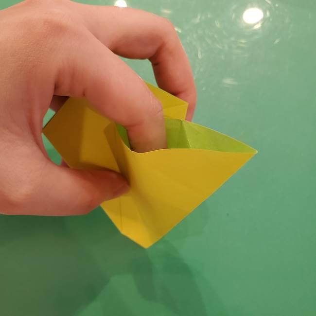 折り紙の梨 立体的でリアルな折り方作り方①前(19)