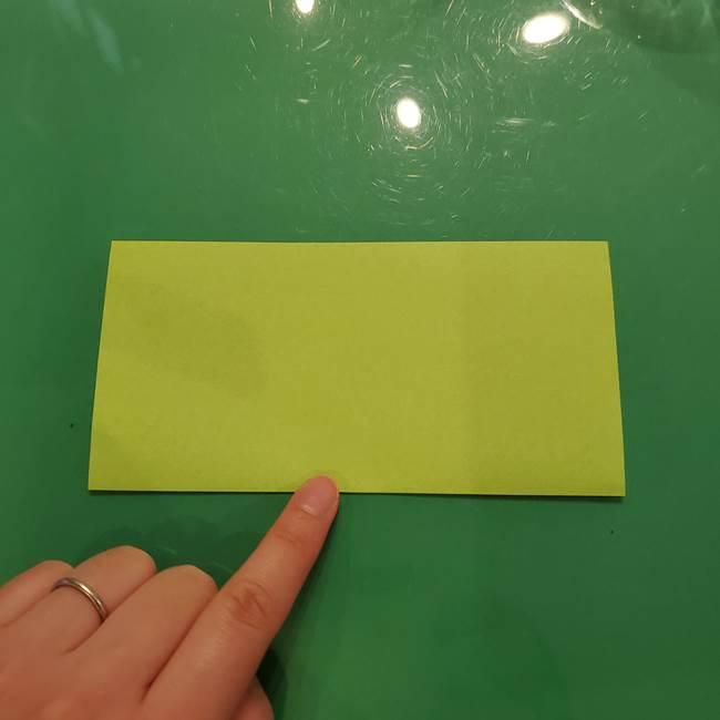 折り紙の梨 立体的でリアルな折り方作り方①前(2)