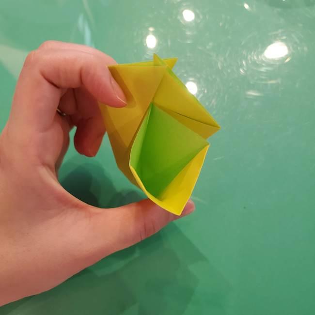 折り紙の梨 立体的でリアルな折り方作り方①前(20)