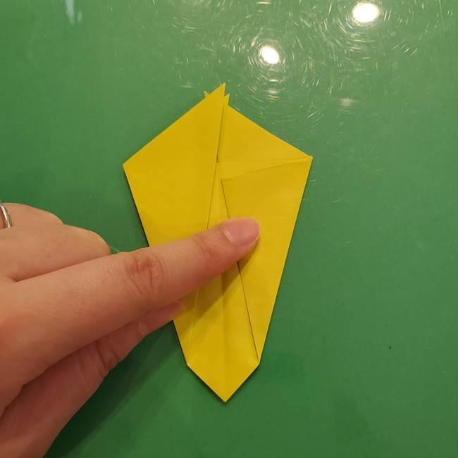 折り紙の梨 立体的でリアルな折り方作り方①前(22)
