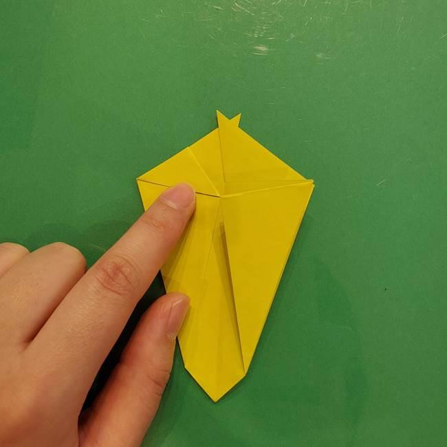 折り紙の梨 立体的でリアルな折り方作り方①前(23)