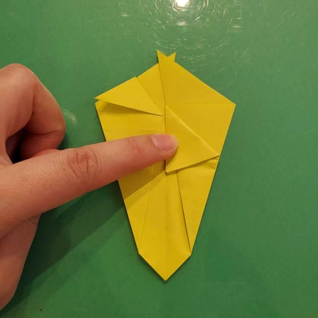 折り紙の梨 立体的でリアルな折り方作り方①前(24)