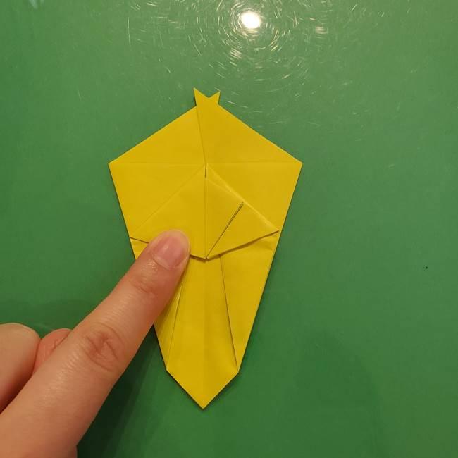 折り紙の梨 立体的でリアルな折り方作り方①前(25)