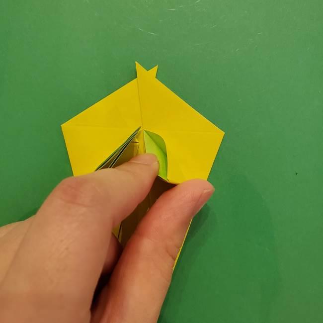 折り紙の梨 立体的でリアルな折り方作り方①前(26)