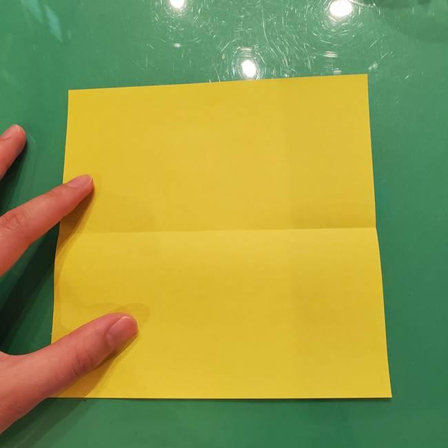 折り紙の梨 立体的でリアルな折り方作り方①前(3)