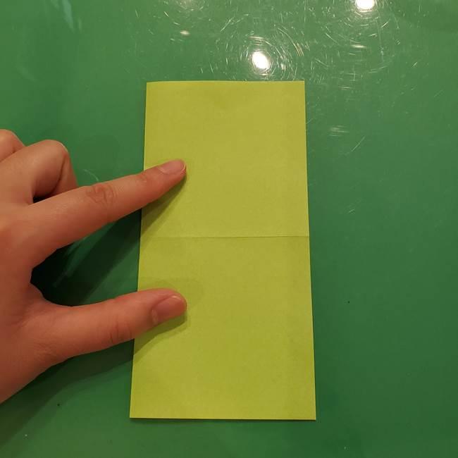 折り紙の梨 立体的でリアルな折り方作り方①前(4)
