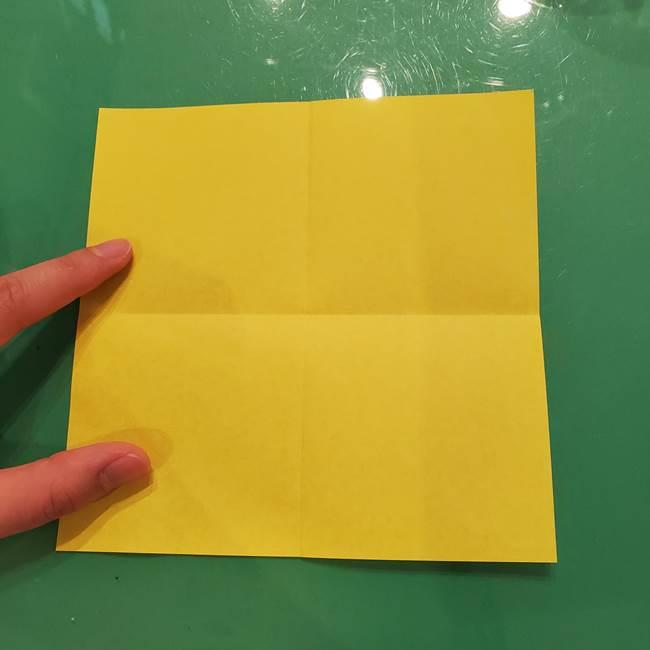 折り紙の梨 立体的でリアルな折り方作り方①前(5)