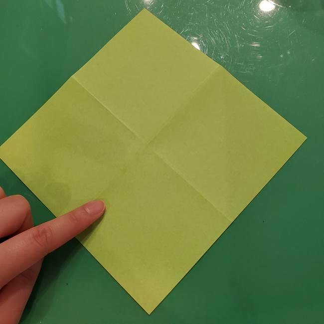 折り紙の梨 立体的でリアルな折り方作り方①前(6)