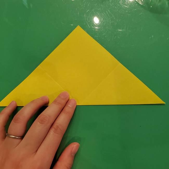 折り紙の梨 立体的でリアルな折り方作り方①前(7)