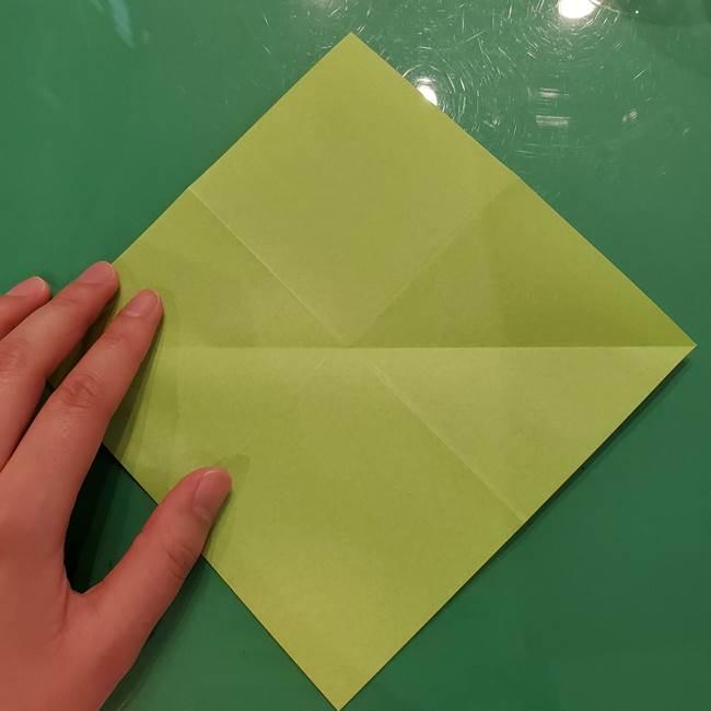 折り紙の梨 立体的でリアルな折り方作り方①前(8)