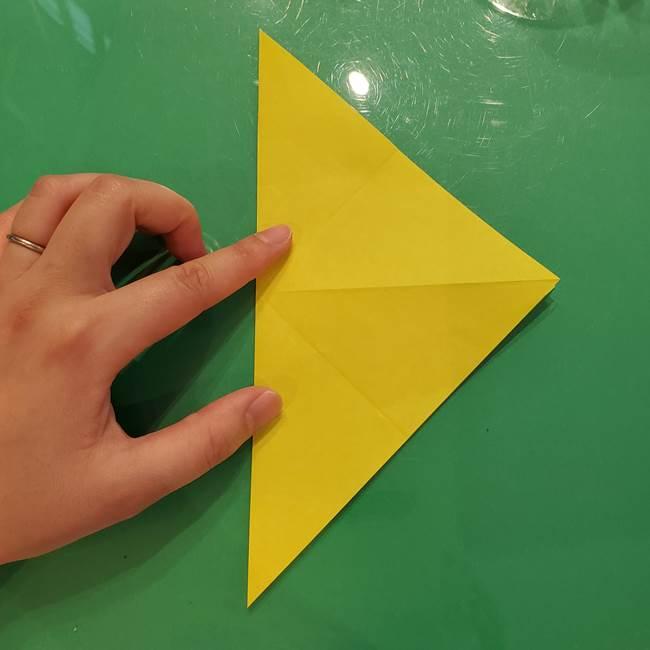 折り紙の梨 立体的でリアルな折り方作り方①前(9)