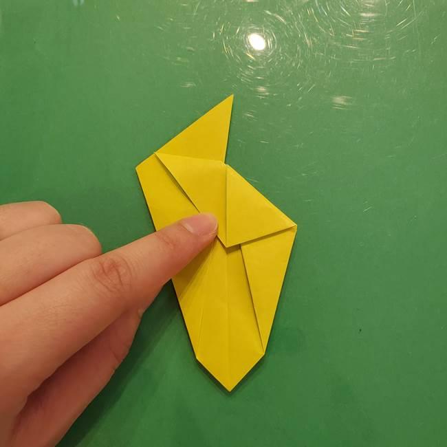 折り紙の梨 立体的でリアルな折り方作り方②後(1)