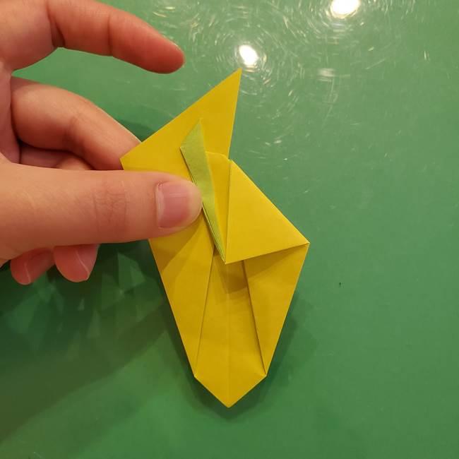 折り紙の梨 立体的でリアルな折り方作り方②後(10)