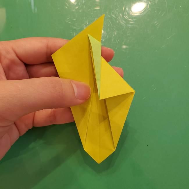 折り紙の梨 立体的でリアルな折り方作り方②後(11)