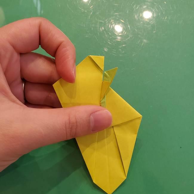 折り紙の梨 立体的でリアルな折り方作り方②後(13)