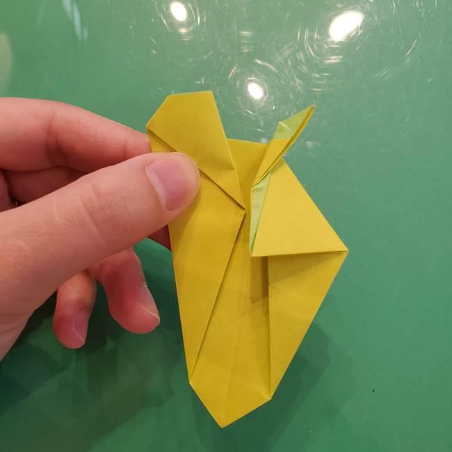 折り紙の梨 立体的でリアルな折り方作り方②後(14)